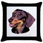 Dachshund Wiener Dog ^ Throw Pillow Case (Black)