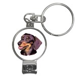 Dachshund Wiener Dog ^ Nail Clippers Key Chain