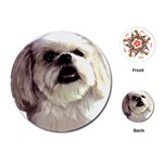 Lhasa Apso ^ Playing Cards (Round)