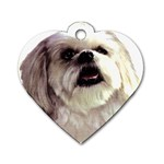 Lhasa Apso ^ Dog Tag Heart Necklace