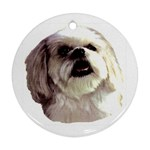 Lhasa Apso ^ Round Ornament (Two Sides)
