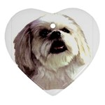 Lhasa Apso ^ Heart Ornament (Two Sides)