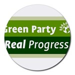 Green Party ^ Collage Round Mousepad