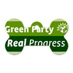 Green Party ^ Dog Tag Bone Necklace (Two Sides)