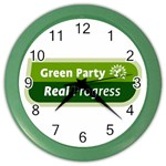 Green Party ^ Color Wall Clock