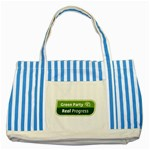 Green Party ^ Striped Blue Tote Bag