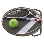 Tennis ^ Belt Buckle