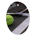 Tennis ^ Ornament (Oval)