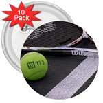 Tennis ^ 3  Button (10 pack)