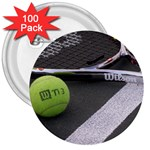 Tennis ^ 3  Button (100 pack)