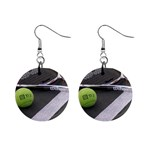 Tennis ^ 1  Button Earrings