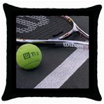Tennis ^ Throw Pillow Case (Black)