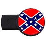 Confederate Rebel Flag ^ USB Flash Drive Round (1 GB)