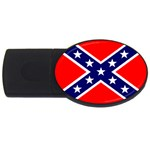 Confederate Rebel Flag ^ USB Flash Drive Oval (1 GB)