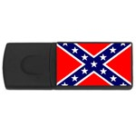 Confederate Rebel Flag ^ USB Flash Drive Rectangular (4 GB)