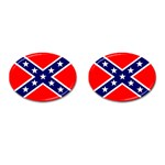 Confederate Rebel Flag ^ Cufflinks (Oval)