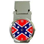 Confederate Rebel Flag ^ Money Clip Watch