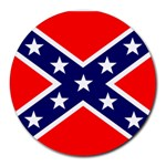 Confederate Rebel Flag ^ Round Mousepad