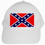 Confederate Rebel Flag ^ White Cap