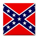 Confederate Rebel Flag ^ Tile Coaster