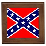 Confederate Rebel Flag ^ Framed Tile