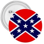Confederate Rebel Flag ^ 3  Button