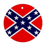 Confederate Rebel Flag ^ Ornament (Round)