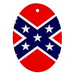 Confederate Rebel Flag ^ Ornament (Oval)