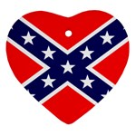 Confederate Rebel Flag ^ Ornament (Heart)