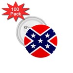 Confederate Rebel Flag ^ 1.75  Button (100 pack)