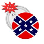 Confederate Rebel Flag ^ 2.25  Button (10 pack)