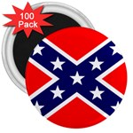 Confederate Rebel Flag ^ 3  Magnet (100 pack)