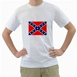 Confederate Rebel Flag ^ White T-Shirt