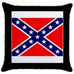Confederate Rebel Flag ^ Throw Pillow Case (Black)