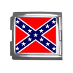 Confederate Rebel Flag ^ Mega Link Italian Charm (18mm)