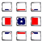 Confederate Rebel Flag ^ Mega Link Italian Charm (9 pack)