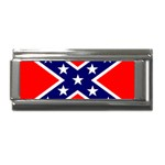 Confederate Rebel Flag ^ Superlink Italian Charm (9mm)