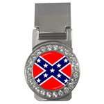 Confederate Rebel Flag ^ Money Clip (CZ)