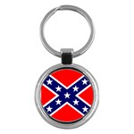 Confederate Rebel Flag ^ Key Chain (Round)