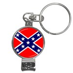 Confederate Rebel Flag ^ Nail Clippers Key Chain