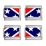Confederate Rebel Flag ^ 9mm Italian Charm (4 pack)