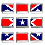 Confederate Rebel Flag ^ 9mm Italian Charm (9 pack)
