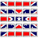 Confederate Rebel Flag ^ 9mm Italian Charm (25 pack)