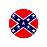 Confederate Rebel Flag ^ Rubber Coaster (Round)