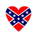 Confederate Rebel Flag ^ Magnet (Heart)