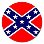 Confederate Rebel Flag ^ Magnet 5  (Round)