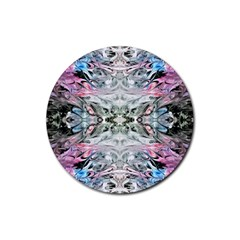 Abstract Waves Iv Rubber Coaster (round)