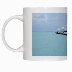 Island Entrance White Mug from SnappyGiftsUSA Left