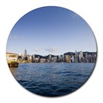 HK harbour Round Mousepad