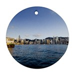 HK harbour Ornament (Round)